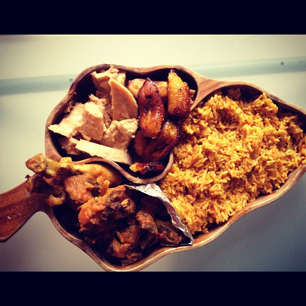 jollof rice and co. party plate