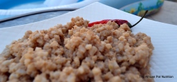 Brown Rice with Peanut Butter (Recipe)
