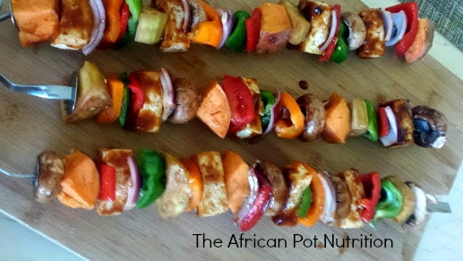 """30 Days A Vegan"" Tofu Kabob"